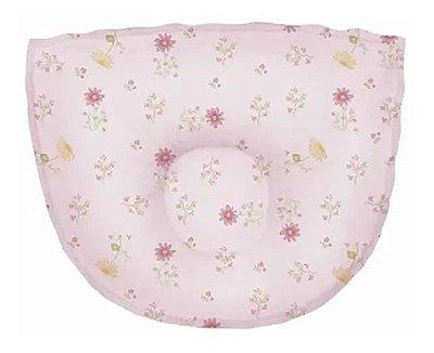 Travesseiro Bebê Anatômico Estampado Rosa - Papi