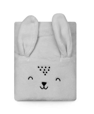 Cobertor Bebê Microfibra Ursinho Cinza 1,10m X 85cm Papi