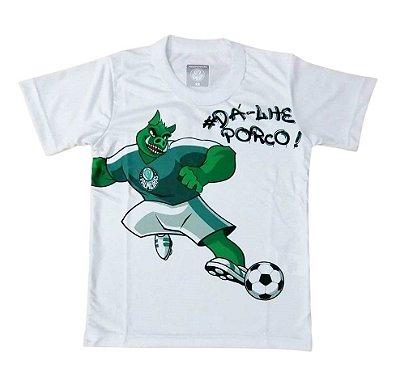 Camiseta Infantil Palmeiras Dá-lhe Porco Oficial