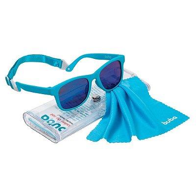 Óculos De Sol Infantil Azul Alça Ajustável Buba