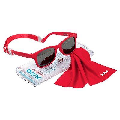 Óculos De Sol Infantil Vermelho Alça Ajustável Buba