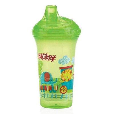 Copo Infantil Com Bico Rígido Verde 270ml Nuby