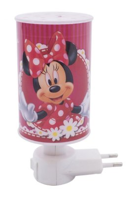 Mini Luminária Abajur Minnie Rosa - Disney