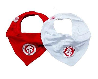 Kit Babador Bandana Internacional Vermelho e Branco Oficial