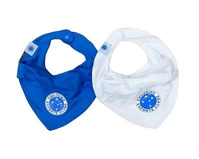 Kit Babador Bandana Cruzeiro Azul e Branco Oficial