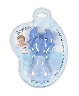 Mordedor Bebê Caranguejo Azul Vila Toy