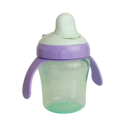Copo Infantil De Transição Verde 200 ml Clingo