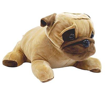 Pelúcia Cachorro Pug Marrom 33cm