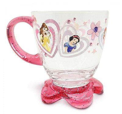 Xícara Acrílico Rosa Princesas 300ml Frozen