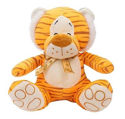 Pelúcia Tigre Sentado Com Laço 23cm