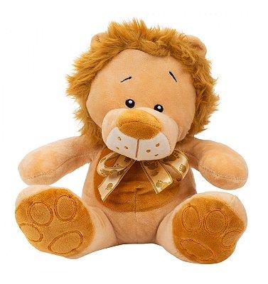 Pelúcia Leão Sentado Laço 23cm