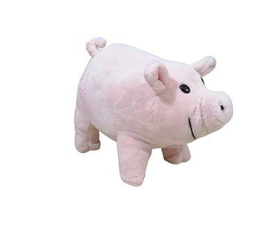 Porquinho de Pelúcia Em Pé Rosa 15 cm