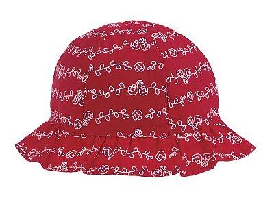 Chapéu Infantil Flores Vermelho - Pimpolho