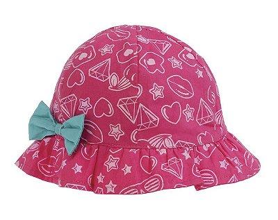 Chapéu Infantil Rosa Laço - Pimpolho