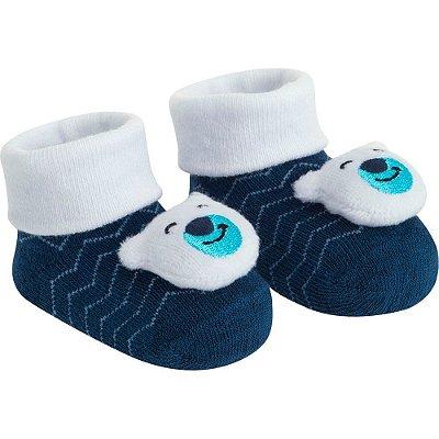 Meia Bebê Bichinho Azul Ursinho Pimpolho