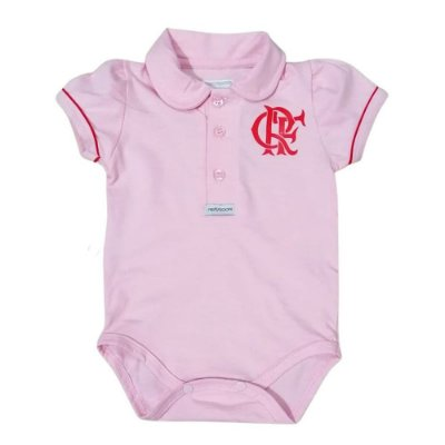 Body Flamengo Polo Rosa Oficial