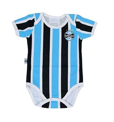 Body Bebê Grêmio Jogo Listrado Oficial