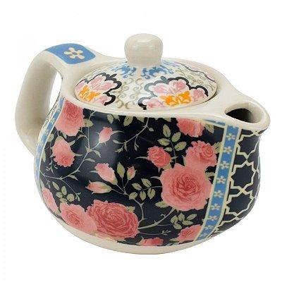 Bule de Chá Em Porcelana Com Infusor Rosas 250ml