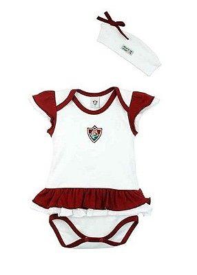 Body Bebê Fluminense com Vestido e Tiara Oficial