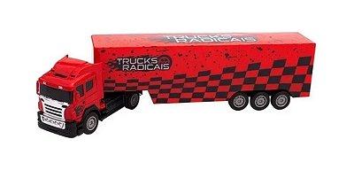 Caminhão Com Controle Remoto Truck Vermelho Unik