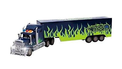 Caminhão Com Controle Remoto Truck Verde Unik
