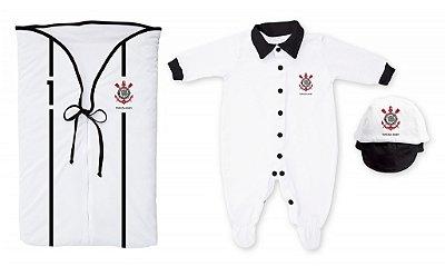 Kit Corinthians Saída Maternidade Branco - Torcida Baby