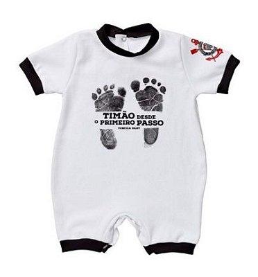 Macacão Bebê Corinthians Primeiro Passo - Torcida Baby