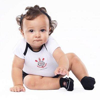Kit Bebê Corinthians 3 Peças Menina Torcida Baby