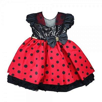 Vestido Minnie Vermelho Laço