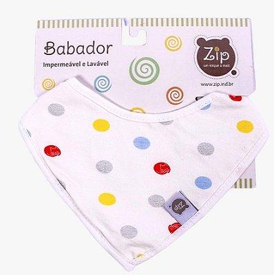 Babador Bandana Impermeável Poá - Zip