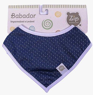 Babador Bandana Impermeável Azul Marinho - Zip