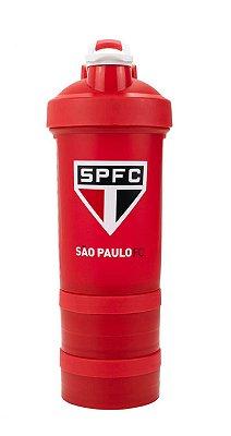 Garrafa Shakeira Com Mola São Paulo 500ml