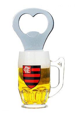Abridor De Garrafas Com Ímã Flamengo 10x5cm