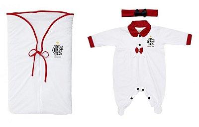 Kit Maternidade Flamengo Meninas Branco - Torcida Baby