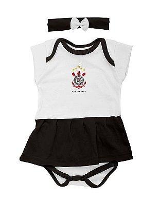 Body Saia Com Tiara Corinthians - Torcida Baby