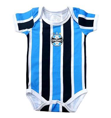 Body Bebê Grêmio Campo Listrado Oficial