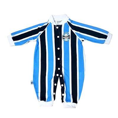 Macacão Bebê Grêmio Uniforme Jogo Longo Oficial