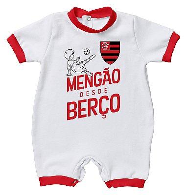 Macacão Bebê Flamengo Desde Berço - Torcida Baby