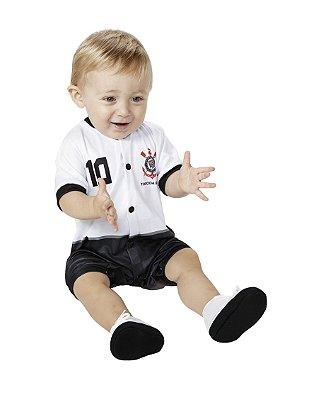 Macacão Corinthians Bebê Curto - Torcida Baby