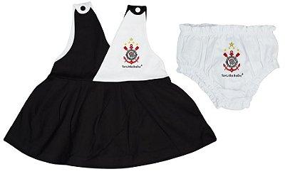 Vestido Bebê Corinthians Com Calcinha - Torcida Baby