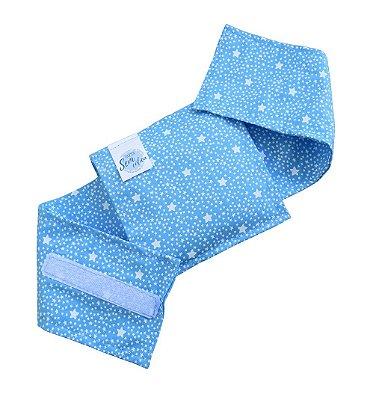 Bolsinha De Sementes Alívio Cólica Bebê Estrelas Azul