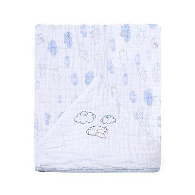 Toalha De Banho Papi Soft Com Capuz Bordado Avião