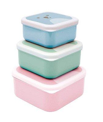 Kit Com 3 Potes Gumy Colorido Rosa - Buba