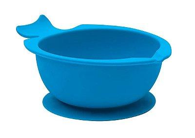 Potinho Bowl De Silicone Com Ventosa Azul Buba