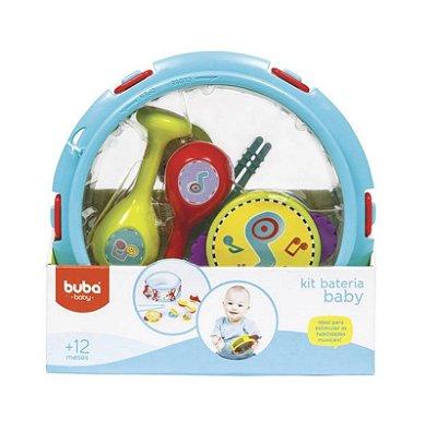Kit Bateria Baby Colorida Com 8 Pçs - Buba