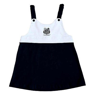Vestido Infantil Santos Com Alça - Torcida Baby