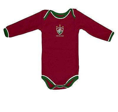 Body Fluminense Longo Torcida Baby Oficial