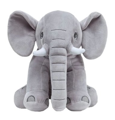 Pelúcia Elefantinho Sentado Cinza Buba