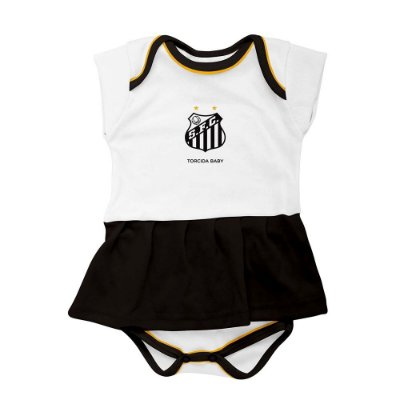 Body Vestido Santos Infantil - Torcida Baby
