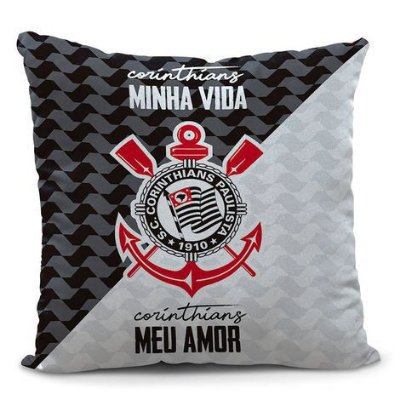 Almofada Corinthians Minha Vida 35cm Oficial